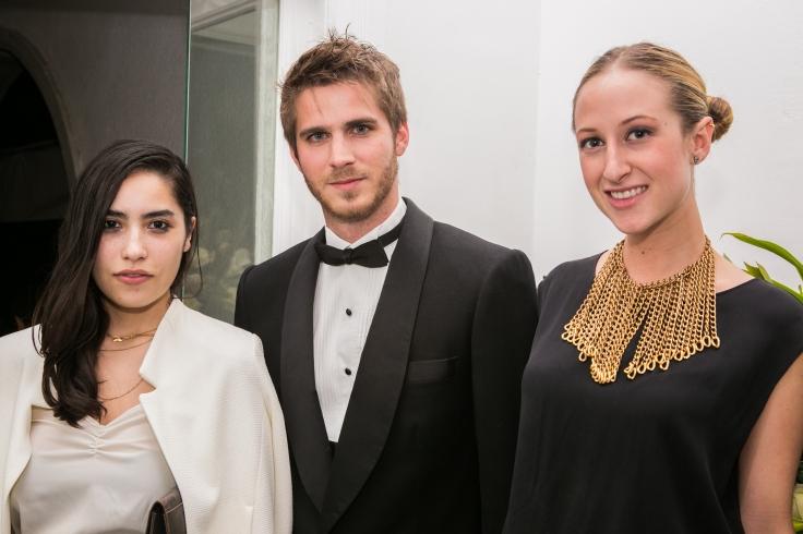 Karla Castañeda, Marc Alanis y Valentina Collado