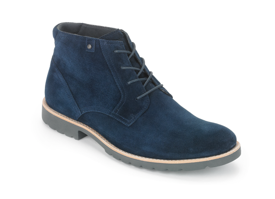 1.-ROCKPORT Caballero-Ledge Hill Boot-Navy Sde