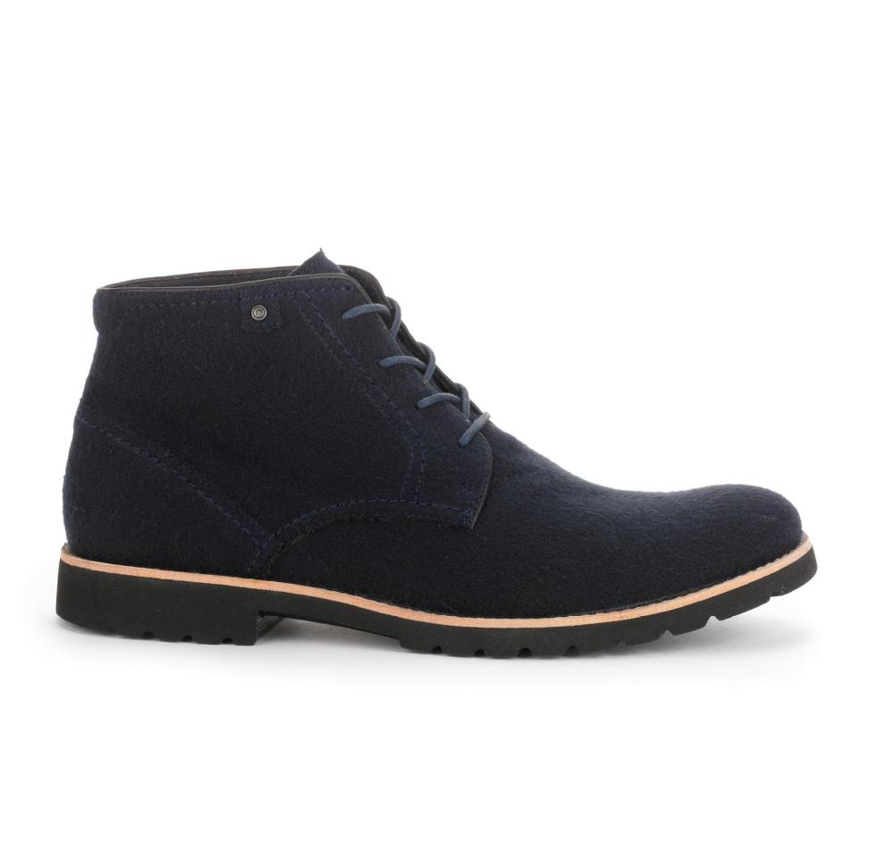 1.-ROCKPORT Caballero - Ledge Hill Boot - Navy Wool