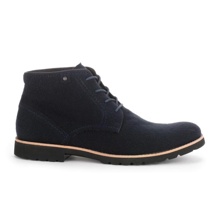 1.-ROCKPORT Caballero - Ledge Hill Boot - Navy Wool