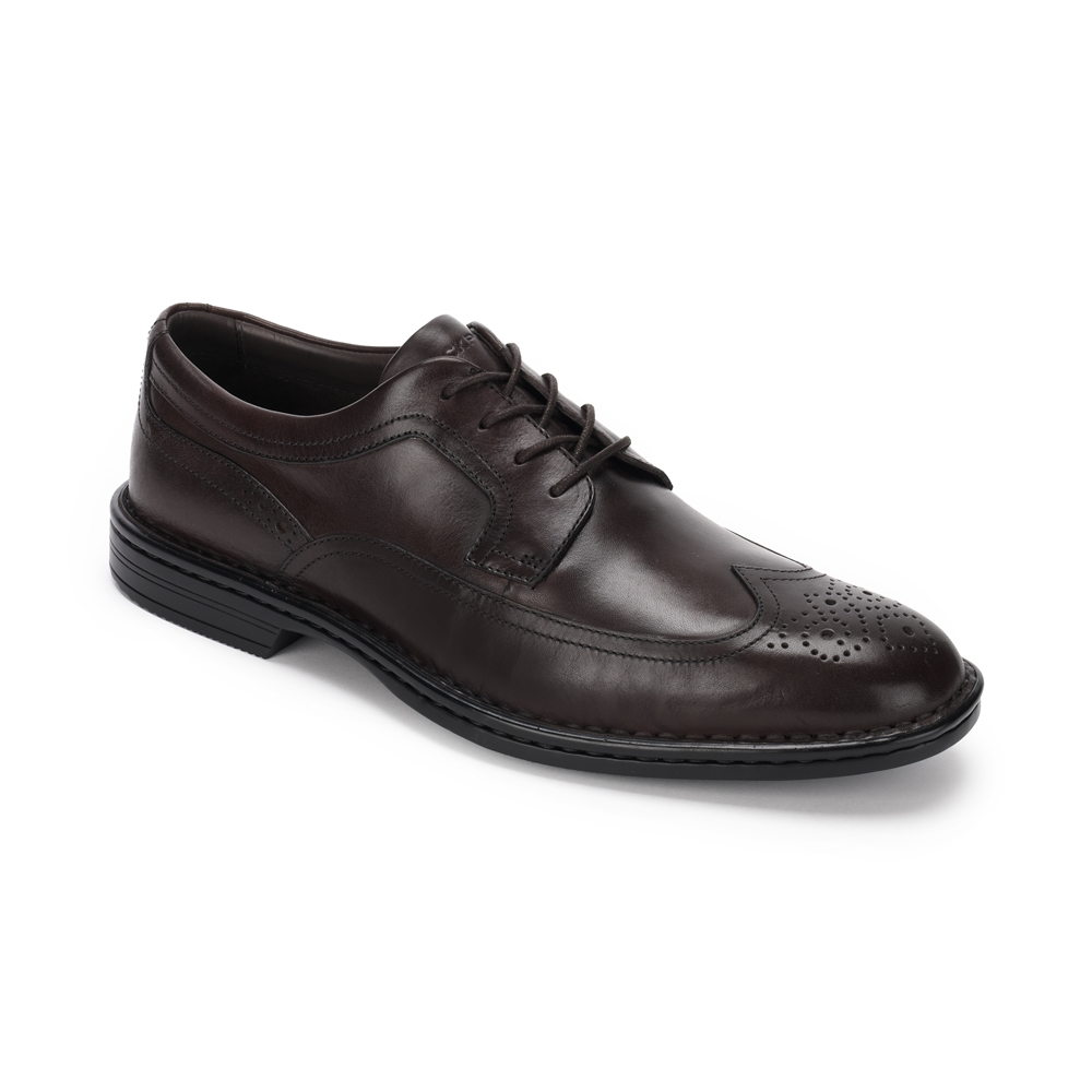7.-ROCKPORT Caballero-ROCSPORTLT BUSINESS WING-DARK BROWN