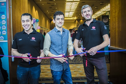 Inauguración Expo Mundo Joven, Rubén Mora, Luis Gerardo Méndez y Jordi Llorens