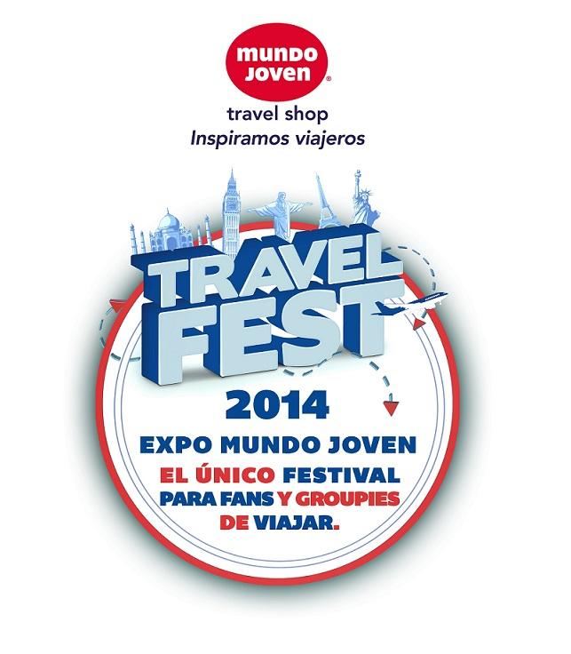 logo expo mundo joven, travel fest, 2014