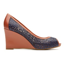 ROCKPORT Dama-Seven to 7 - Wedge Laser Peep 85MM - Peascoat