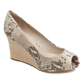ROCKPORT-SEVEN TO 7 WEDGE PEEP 85MM PLAIN PUMP-PYTHON-$1,999.00
