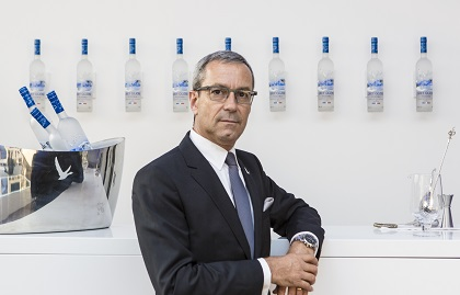 G G creator Maitre De Chai Francois Thibault celebrates the new pioneering partnership and a shared belief to fly beyond behind the scenes at GREY GOOSE Virgin Galactic Partnership launch film